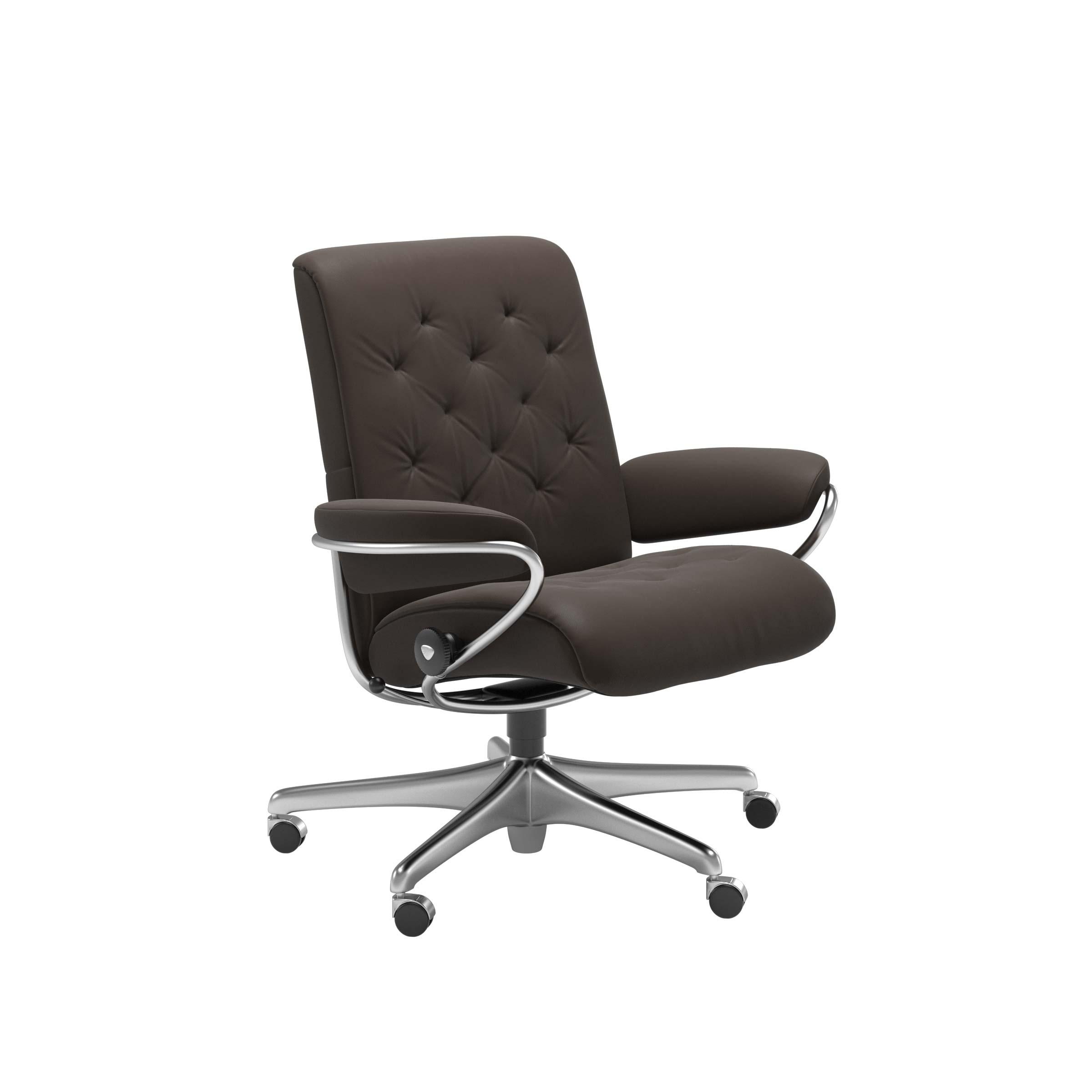 Stressless® Sessel Metro Low Back, Home Office, Leder Batick brown